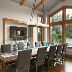 contemporary dining room by Two Column Marketing