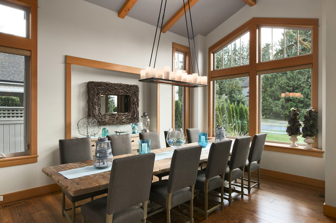 Contemporary Dining Room by Two Column Media