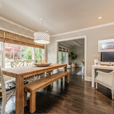 Transitional Dining Room by Exceptional Frames Photography