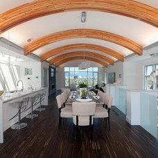 Contemporary Dining Room by blurrdMEDIA