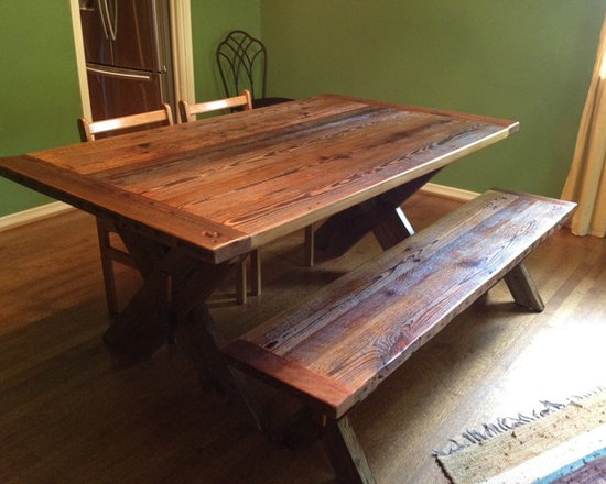 barnwood dining table | houzz