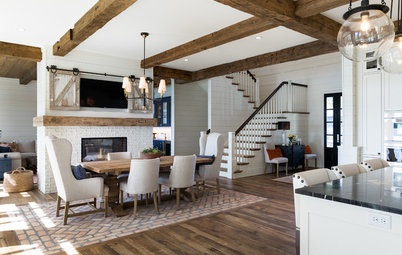 Houzz Tour: Modern Farmhouse Style on a Minnesota Lake