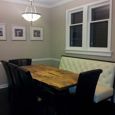 Contemporary Dining Room by Urban Tree Salvage