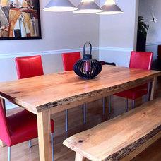 Contemporary Dining Room by Urban Tree Salvage