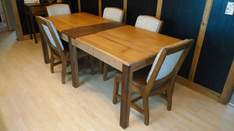 Reclaimed Oak and Walnut Dining Table