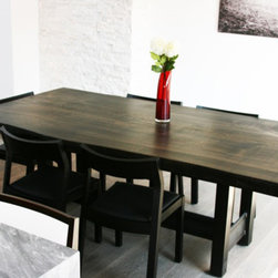 Urban Tree Salvage - Reclaimed Poplar Live Edge Slab Dining Table - WWW.URBANTREESALVAGE.COM            647.438.7516