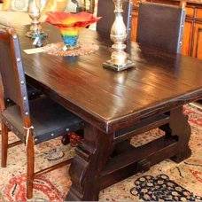 Mediterranean Dining Room by Mortise & Tenon Custom Furniture Store