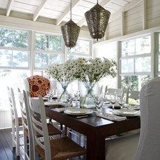 Beach Style Dining Room by Lisa Stevens & Company, Inc.