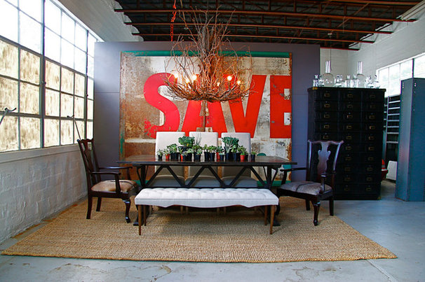 Industrial Dining Room by red: modern lines . vintage finds