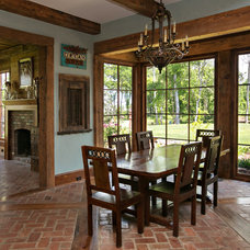 Rustic Dining Room by Terry M. Elston, Builder