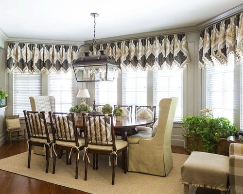 Traditional Medium Tone Wood Floor And Brown Floor Dining Room Idea In DC  Metro Part 73