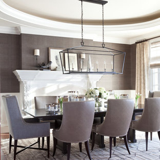 Wallpaper On Tray Ceiling Houzz