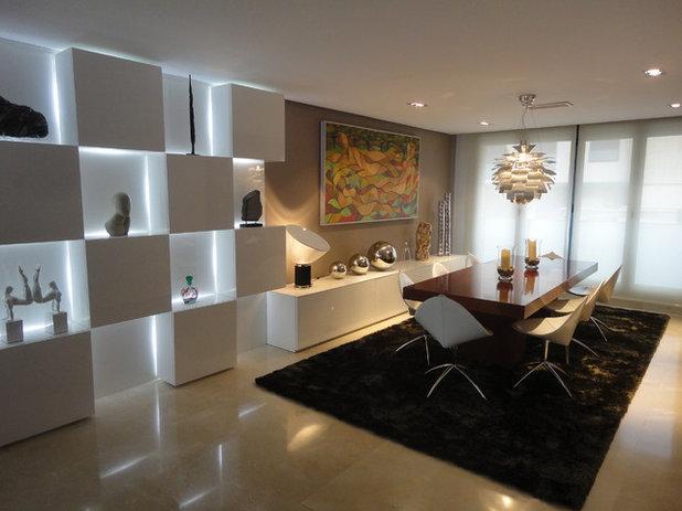 Moderno Sala da Pranzo by alonso + naval arquitectos