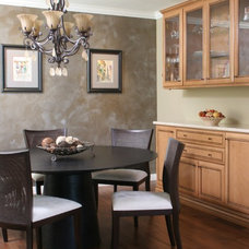 Transitional Dining Room by Morey Remodeling Group