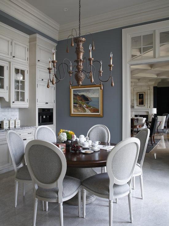 Blue Grey Dining Room Design Ideas Remodels Photos
