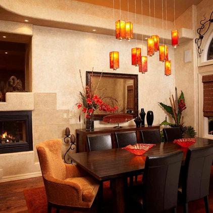 Rustic Dining Room by Regina Sturrock Design Inc.