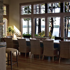 Contemporary Dining Room by Nancy Finneson, AKBD, CAPS / DeMane Design
