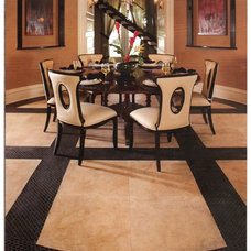 Contemporary Dining Room by bandas's Tile & Granite
