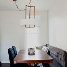 Transitional Dining Room by Park Lighting