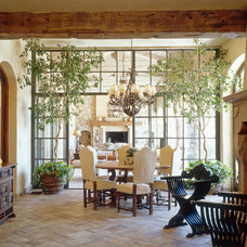 mediterranean dining room by Island Architects