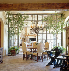 mediterranean dining room by Tony Crisafi / Drex Patterson