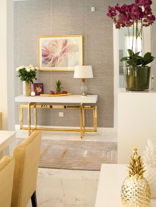 Sala da pranzo shabby chic style con pavimento in linoleum - Sale da pranzo shabby ...