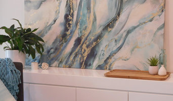 Residential Port Macquarie, styled sideboard buffet, art and accessories