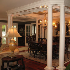 Traditional Dining Room by The Gaines Group, PLC