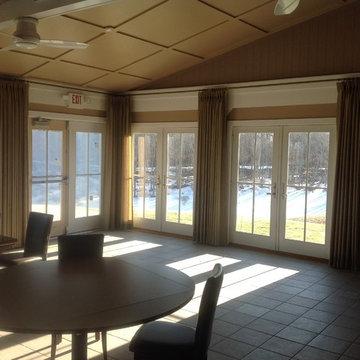 Restaurant Dining Window Treatments - Shelter Island, NY