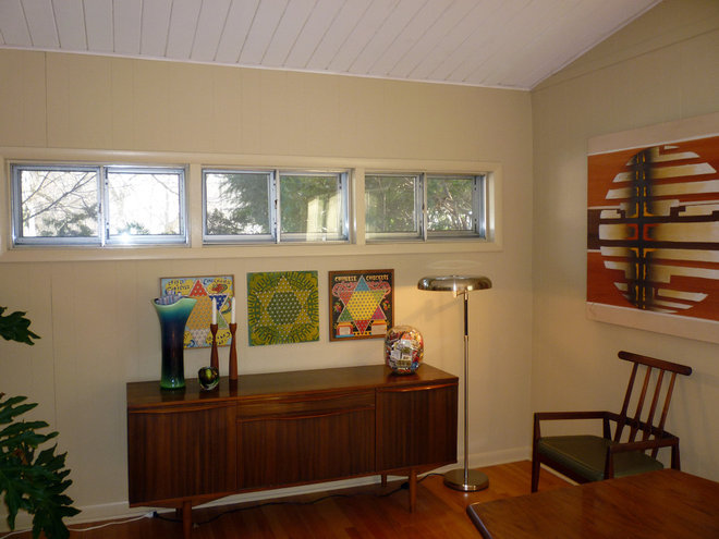 Midcentury Dining Room Restoration Ranch