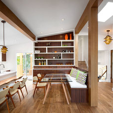 Midcentury Dining Room by Sarah Gallop Design Inc.