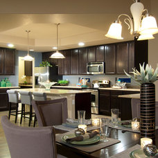 Contemporary Dining Room by Housing & Building Association of Colo. Springs