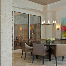 Contemporary Dining Room by Phil Kean Design Group