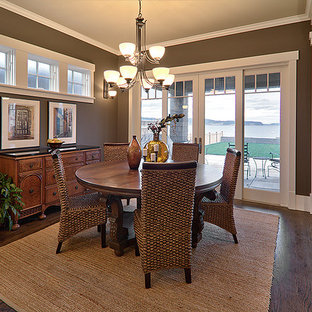 Example of a classic dining room design in Seattle