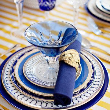 Rhapsody in Blues Dinnerware & Tabletop Design