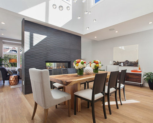 Superieur Example Of A Large Minimalist Light Wood Floor Great Room Design In San  Francisco With White