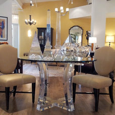 Eclectic Dining Room Ribbon Crescent Games Table