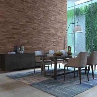 Idéer för att renovera en funkis separat matplats, med bruna väggar