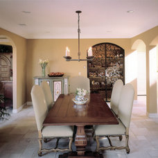 Mediterranean Dining Room by Richens Designs, Inc.