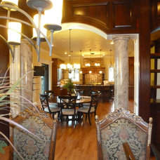 Mediterranean Dining Room by Celtic Custom Homes