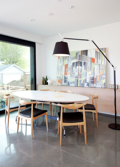 Scandinavian Dining Room by Project 22 Design Inc