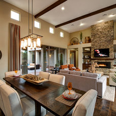 Transitional Dining Room by Dorn Homes