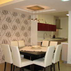 Contemporary Dining Room by Rina Magen