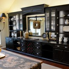 Transitional Dining Room by Danneman Designs, LLC