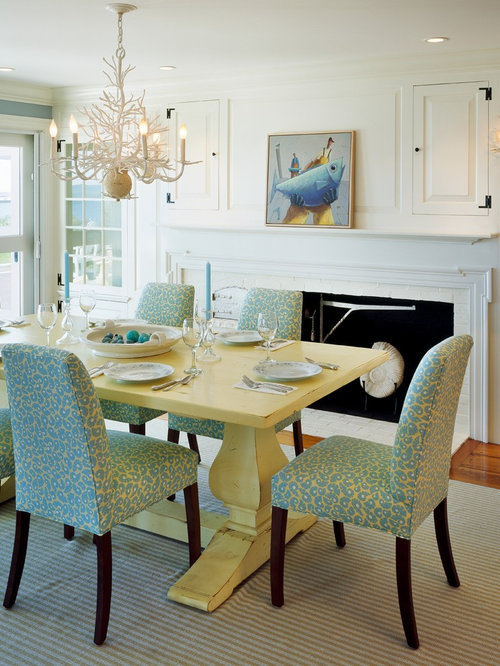 Cottage style decorating home design ideas pictures for Yellow dining room ideas