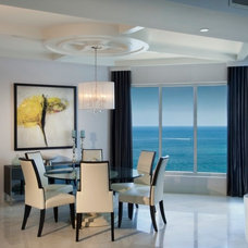 contemporary dining room by Britto Charette - Interior Designers Miami Florida