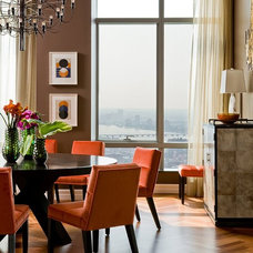 Contemporary Dining Room by Terrat Elms Interior Design