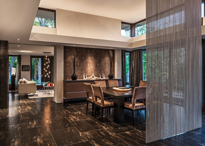 Contemporary Dining Room by Wheaton Hushcha Design