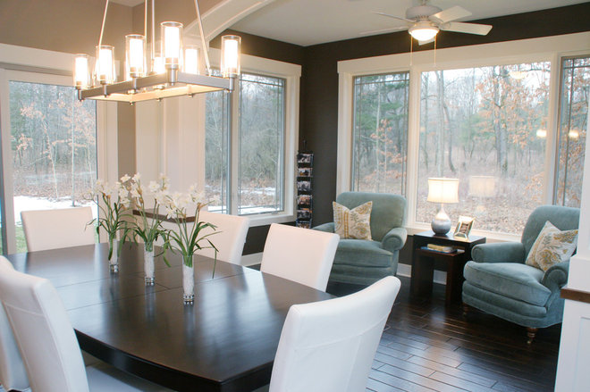 Contemporary Dining Room by Green Apple Design