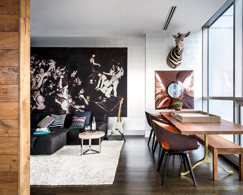 Inspiration For A Small Contemporary Dining Room Remodel In Chicago
